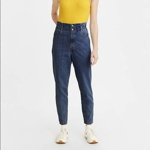 NWT LEVI'S 80's High Rise Paperbag Taper Jeans